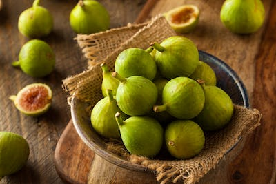 Healthy Organic Green Figs