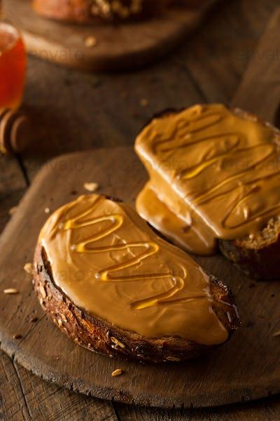 Gourmet Peanut Butter and Honey Toast
