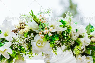 White flowers decorations