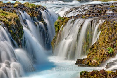 Detail of the Bruarfoss in Iceland
