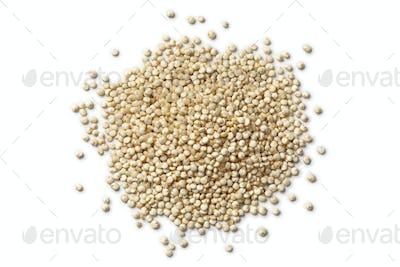 Heap of raw Quinoa seeds