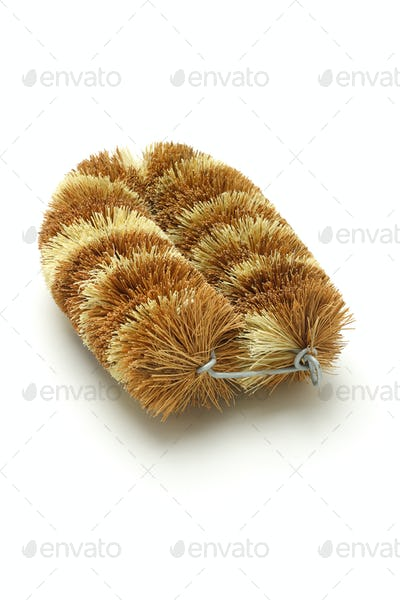 Natural coconut fiber brush