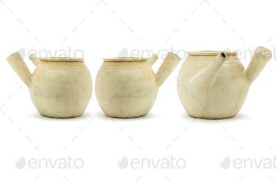 Three Chinese clay pots