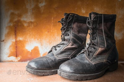 old boots shoes