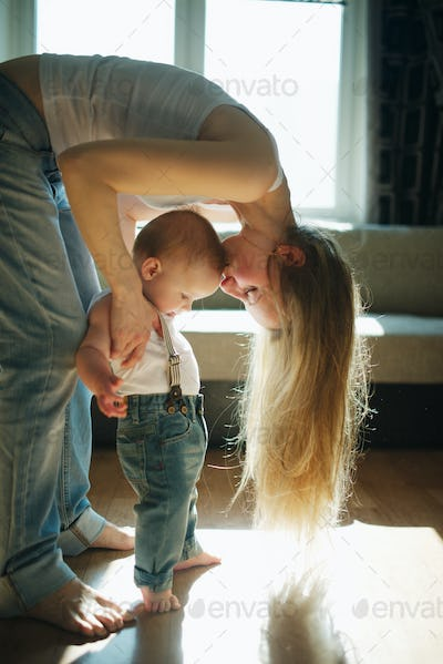 beautiful young mother with baby
