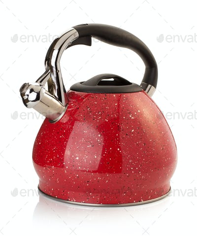 kettle isolated on white