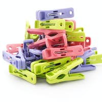 Pile of colorful plastic pegs