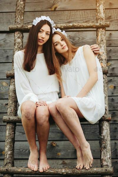 Two beautiful girl