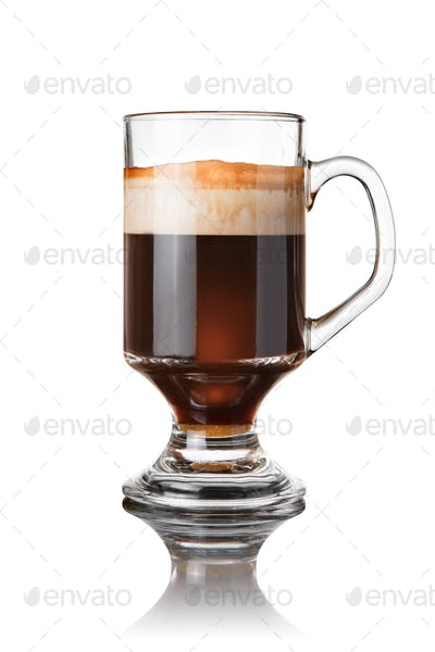coffee cocktail isolated on white