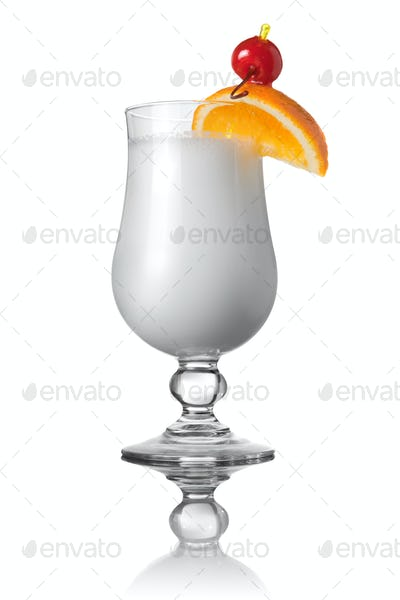 white cocktail isolated on white