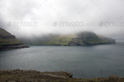 Rocky landscape on the Faroe Islands