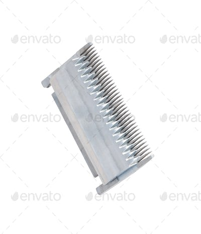 blades closeup isolated on white background