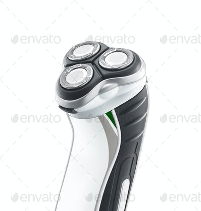 close up of shaving machine