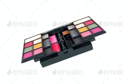 Make-up palette isolated on white background