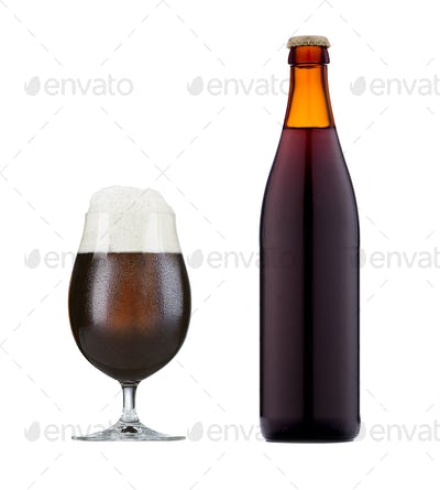 glass of brown beer
