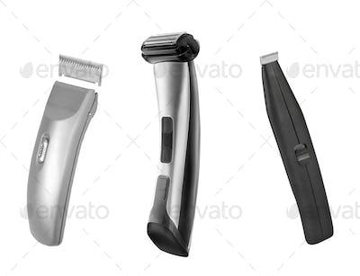 Shaving machines isolated on white