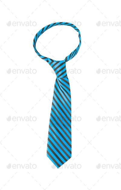blue striped necktie