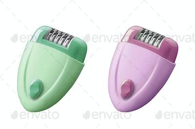 electric depilators isolated