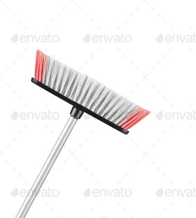 Beautiful pinkwith white mop