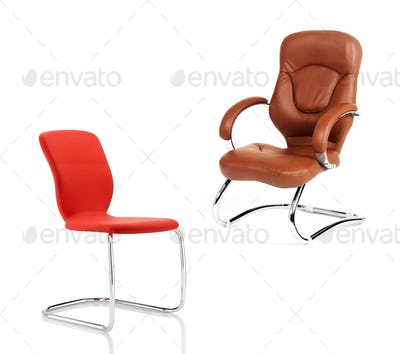 Stylish Chairs isolated on white