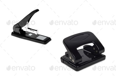 Black office hole punches