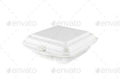 white foam box