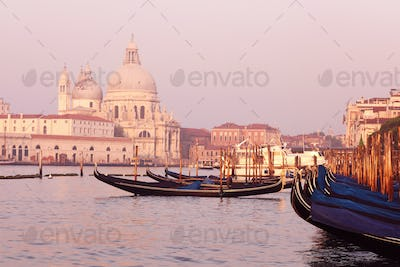 Beautiful view of traditional Gondola on Canal Grande
