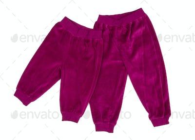 Crimson Cotton baby pants.