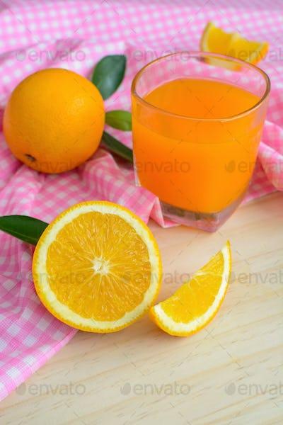 Glass of Freshly squeezed orange juice