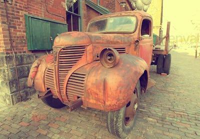 Vintage rusty truck car