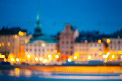 Colorful Background,  Defocused Lights In Stockholm, Sweden