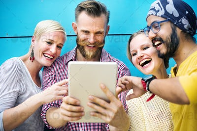 Diversity Friends Discussion Communication Start up Concept