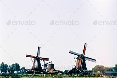 Two windmills at Zaanse Schans