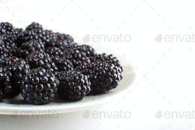 Blackberries close-up