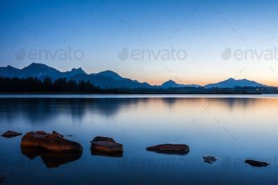 Blue Hour at Lake Hopfen