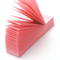 Pink narrow post-it