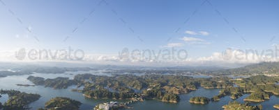 Lakes and islands at Guatape in Antioquia, Colombia