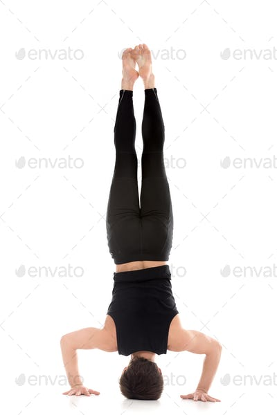 Tripod Headstand, back view