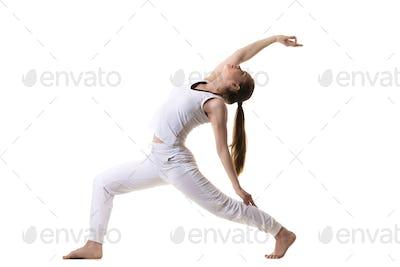 Profile of Reverse Warrior Pose