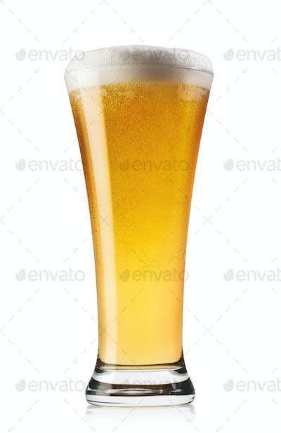 Extending up glass of beer
