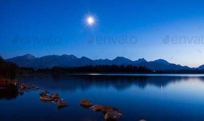 Moonlight at Lake Hopfen