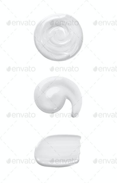 Cosmetic cream isolated on white