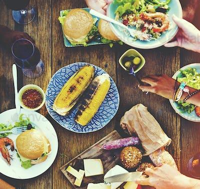 Food Appetiser Serve Luncheon Meal Concept