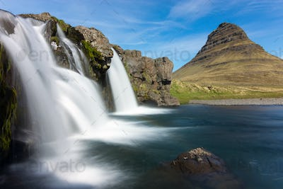 The Kirkjufellsfoss in Iceland