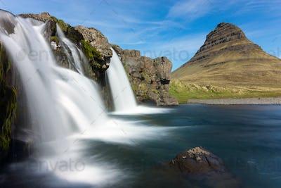 The Kirkjufellsfoss in Iceland