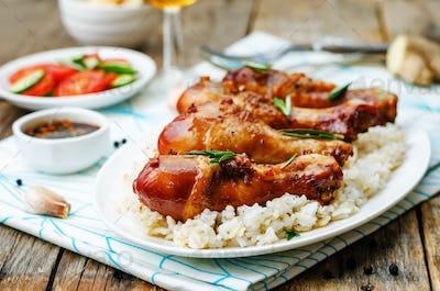 roasted honey soy garlic ginger chicken