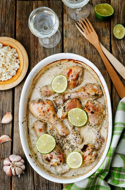 coconut garlic lime chicken legs