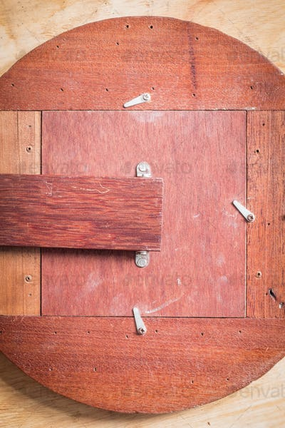 surface of the wooden frame