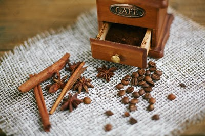 Coffee, cinnamon and anise