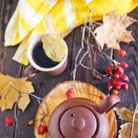 fresh tea in teapot